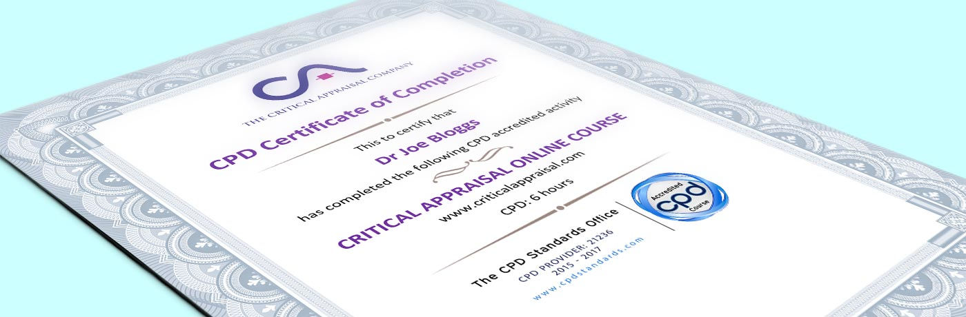 Our critical appraisal courses are now approved for CPD