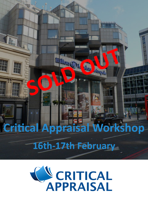 Critical Appraisal Workshop 16-17th Feb 2019 – sold out