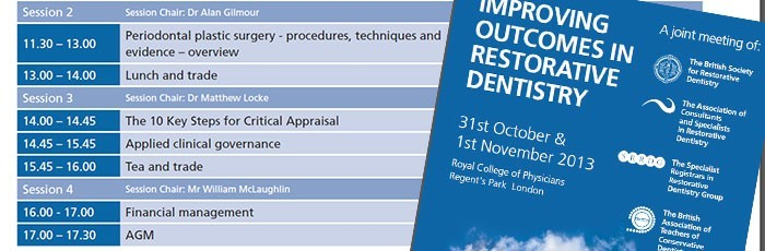 'Key Steps' lecture at Restorative Dentistry conference